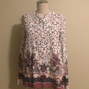 Loft tunic flower pattern!